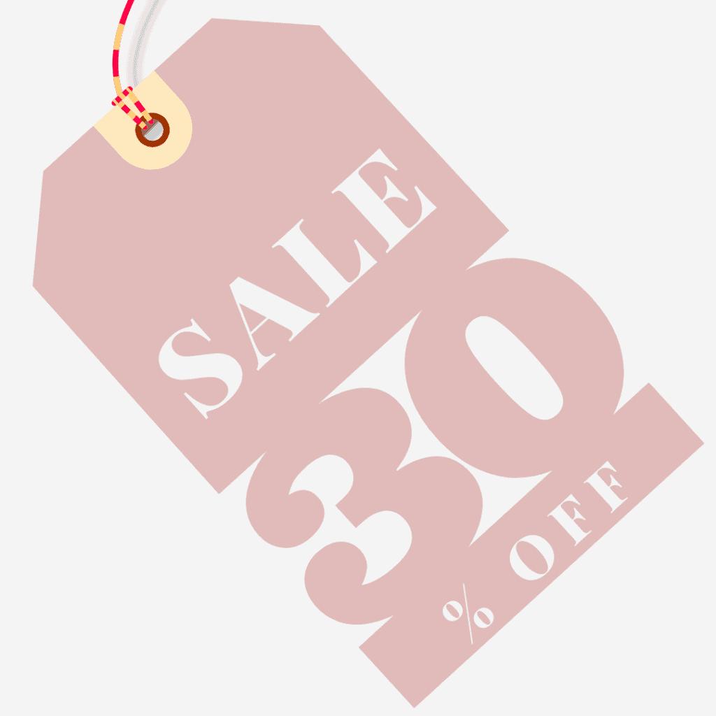30 % off sale